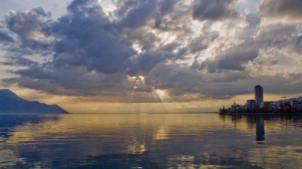 Панорама Женевского озера
